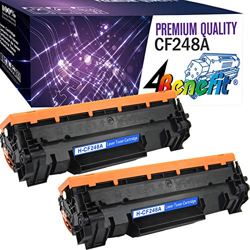 (New Chip,2-Pack) Compatible Replacement for CF248a 48A Black Toner Cartridge for use in HP Laserjet Pro M15w M15 15a MFP 28w 28a Printer