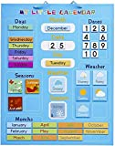 Il Mio Primo Calendario per Bambini, Magnetico 42x35cm - Giocattolo Divertente Educativo - Meteo Stagioni Giorni Settimane Mesi - Regalo Ideale per Natale e Compleanno, per Casa e Scuola.