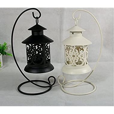 New Candle Holder Vintage Creative Hollow Hanging Retro Iron Moroccan Style Candlestick Lamp Candleholder Light Party Wedding Home Decor