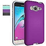Galaxy J3 V Case,Galaxy Sky Case,Galaxy Amp Prime/Express Prime/Sol Case for Girls Women,NiuBox Hybrid Armor Shock Absorption Protective Phone Case for Samsung Galaxy J3 (2016) 6 - Purple