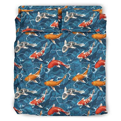 Haythan Juego de cama de 4 piezas de lujo – 4 piezas ropa de cama blanco 240 x 264 cm