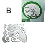 Glomixs Christmas Snowman Metal Cutting Dies Set, Scrapbook Paper Craft Christmas Emboss Punch Stencil Mold, Xmas Snowman Stencil Template for DIY Scrapbook Album Paper Card Making Craft Decoration