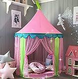Carpa para niños Princess Castle for Girls - Glitter Castle Pop Up Play Carpa Tote Bag - Niños Playhouse Toy para Juegos de Interior y Exterior 41 'X 55' (DxH)