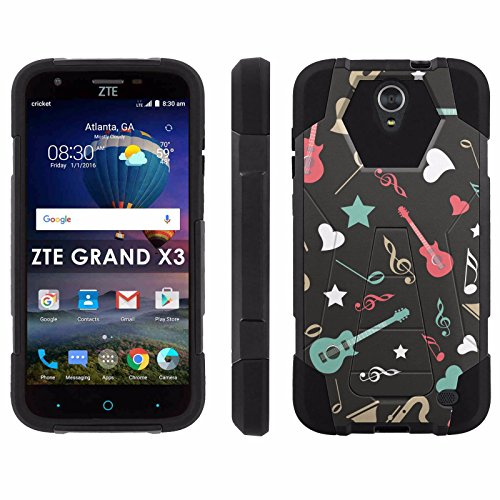 ZTE Uhura Grand X3 Z959 [Warp 7] Phone Cover, Music Wall - Black Hexo Hybrid Armor Phone Case for ZTE Uhura Grand X3 Z959 [Warp 7]