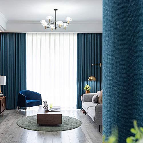 BOLO Cortinas opacas utilizadas para habitaciones con cortinas de aislamiento térmico que oscurecen la parte superior de los pliegues, y cortinas sólidas para dormitorios, 350 cm x 270 cm