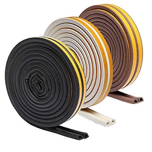 隙間テープ 戸あたり ゴム テープ ドア 気密 窓 棚 スキ用テープ 強力接着剤 すきま風防止 防音 防風 防虫 騒音対策 D型 10M