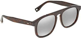 Kính mắt cao cấp nam – Sunglasses Fendi Men Ff M 14 /S 045Z Havana Silver / T4 silver mirror lens