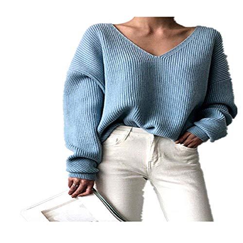 Herfst Winter Vrouwen Truien V-hals Minimalistische Tops Modieuze Stijl Breien Casual Solid
