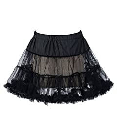 This Petticoat is the Perfect Accompaniment for Wearing Under Vintage Dress/Bridesmaid/Prom Dress/Fancy Dress or Can be Worn Alone as a Skirt.Adds the Perfect Volume to Your Dress. Made of tiered layers with plenty of gathers to hold the dress's shap...