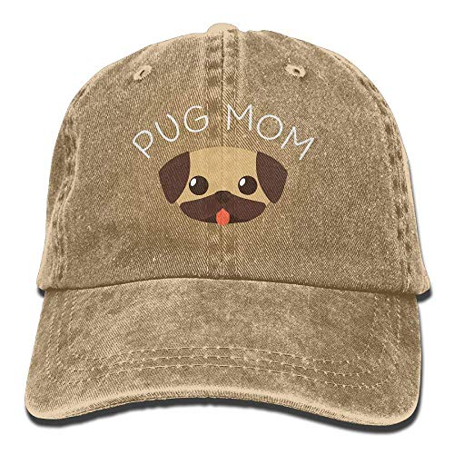 Preisvergleich Produktbild AOHOT Herren Damen Baseball Caps, Hüte,  Mützen,  Classic Baseball Cap,  Men's Women's Adjustable Cotton Denim Baseball Cap Pug Mom Dad Hat