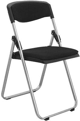 Hábitat macadán Black Metal silla plegable: Amazon.es: Hogar