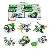 Erector Sets - Metal Mini Building Blocks Set, Vehicles Model Kit Take Apart STEM Toys for Boys Girls Ages 8 and Up (Military Car Series)