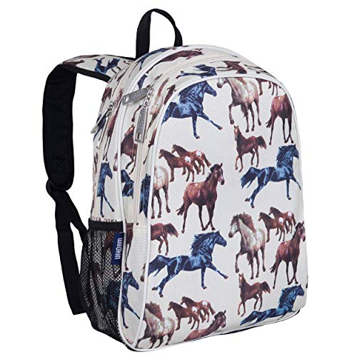 Wildkin Kids 15 Inch Backpack for Boys and Girls, Perfect Size for Preschool, Kindergarten and Elementary School, 600-Denier Polyester Fabric Backpacks, BPA-free, Olive Kids (Horse Dreams)