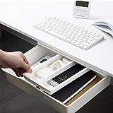 Under Desk Drawer,Desk Drawer,Under Desk Pencil Drawer Organizer, Under Table Storage,Hidden Self-Adhesive Pencil Tray Drawer for Office/Desk/School/Kitchen (L:33.4 x 24.9 x 6.5 cm)
