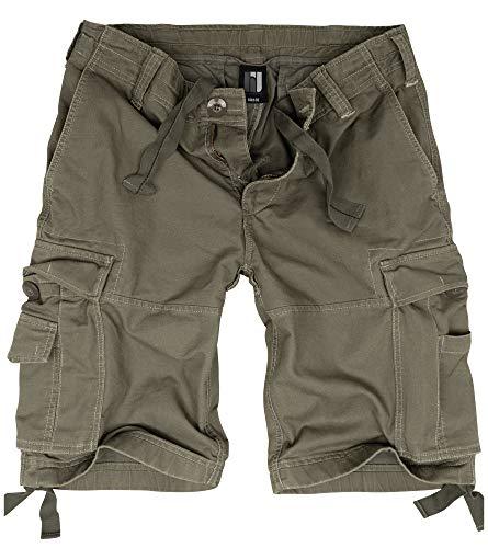 bw-online-shop Basic Vintage - Bermuda da uomo Cargo Shorts, oliva, M