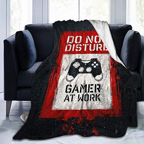 Gamepad 3D-Spieler Game Controller Esport-Spieler PC-Kunstausrüstung DS-Spiel Online-Comics lustig Throw Throwover Decke Super Soft Fluffy All SeasonCouch Schlafsofa 50 'x 40'