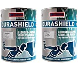 Durashield Grey Rubber Based Waterproof Roof Paint Coating Sealant 2X 5 Litre, High Performance One Coat System with a Longer Lasting Smooth Finish