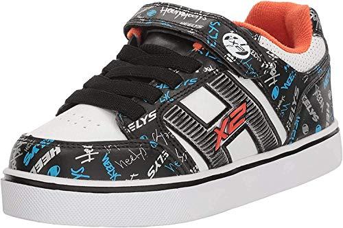 Heelys X2, Zapatillas Unisex niños, (Black/White/Orange/Cyan), 34 EU