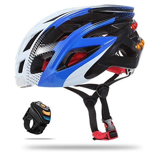 HYM Smart Bike Bluetooth-Helm mit Rücklicht, vollständig einstellbare Größe/Verbindung über Bluetooth für Musik, Gegensprechanlage, Fotografieren, komfortabel, leicht, atmungsaktiv