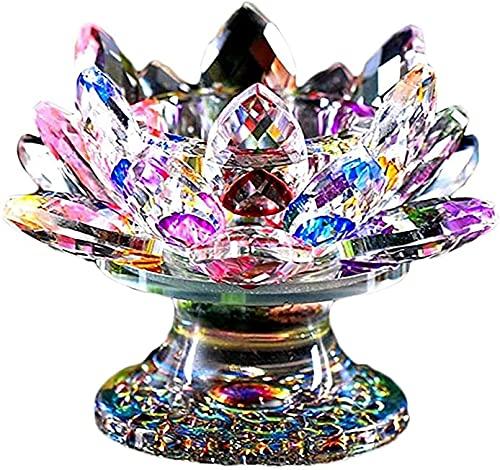 Candelabro, Elegante tealight Crystal Vetro Vetro Design candelsick Festival di Nozze Pacchetto Decorazioni per la casa, Multicolore (Color : Multi Colored)