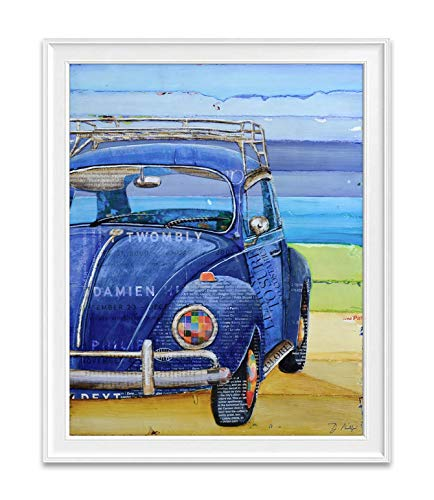 I Got the Blues, Antique Classic Car Automobile 1967, Danny Phillips Unframed Art Print, Vintage Nautical Coastal Beach and Home Decor Poster, 8x10 Inches
