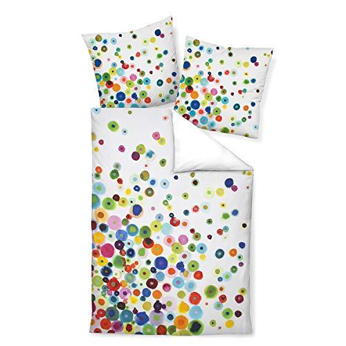 Janine Design Mako-Satin Bettwäsche modern Art 42030-09 Multicolor 1 Bettbezug 135 x 200 cm + 1 Kissenbezug 80 x 80 cm