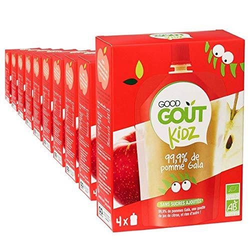 Good Goût Kidz - BIO - 40 gourdes 90g Fruits Pomme Gala dès 3 ans - pack de 10x4
