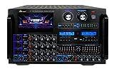 IDOLmain IP-7500 8000W Pro Digital Console Mixing Amplifier W/ 7' LCD Screen Monitor, Bluetooth, Recording, Guitar Level Control & Digital Optical/Coaxial Input,HDMI,8 Bands EQ -New & Improved