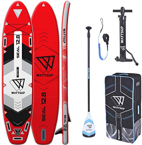 "WS WattSUP Seal 12'8"" MEGA SUP Board Stand Up Paddle Surfboard Paddel ISUP 388x91cm"