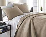 Southshore Fine Linens - Vilano Springs Oversized 3 Piece Quilt Set, King/California King, Taupe