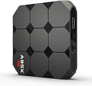 Docooler A95X R2 Smart Android 7.1 TV Box Amlogic S905W Quad Core H.265 HDR10 2GB / 16GB DLNA WiFi LAN HD Media Player US Plug