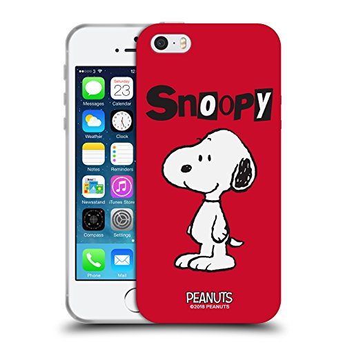 Head Case Designs Oficial Peanuts Snoopy Personajes Carcasa de Gel de Silicona Compatible con Apple iPhone 5 / iPhone 5s / iPhone SE 2016
