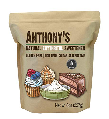 Anthony's Erythritol Sweetener, 8 oz, Non GMO, Natural Sweetener, Keto & Paleo Friendly