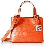 Armani Exchange Liz – Small Open Shopping Tote, 18 x 13 x 26 cm, color Naranja, talla 18x13x26 cm (B x H x T)