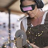 Ejoyous Gafas de Soldadura con oscurecimiento automático Solar, Gafas de Soldador, Casco de máscara de Soldador Protector de Seguridad con Sombra Ajustable
