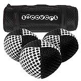 Speevers - Juego de 3 pelotas de malabares para deportes y malabares (650 g), 2 kg de peso para hacer ejercicio, color negro y blanco