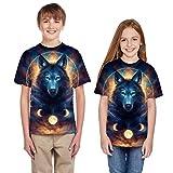 Moneycom – Camiseta para adolescente de la edad, niña, niña, niña, verano, 3D, ropa casual, camiseta para niño, unisex, algodón, disfraz de cumpleaños chic multicolor 7-8 Años