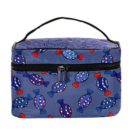 TIZORAX Sweet Candy Cosmetic Bag Travel Trousse de Toilette Grand Makeup Organizer Box