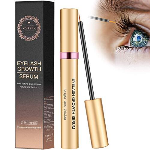 MayBeau 8ml Wimpernserum Augenbrauenserum Wimpern Booster Lash Serum Eyelash Growth Serum mit Hyaluronsäure für Wimpernwachstum und Augenbrauenwachstum Lange Wimpern und Augenbrauen