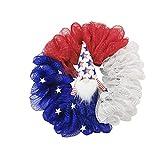 CAETNY Coroa patriótica Americana, decorações do Dia da Independência, EUA, 4 de julho Simulação Garland Glory Patriótica Flagh Wreat (D)