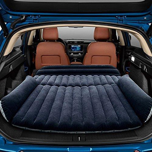 Sinbide Abziehbar Auto Luftmatratzen Luftbett Camping aufblasbare Matratze Isomatte Auto SUV MVP mit Pumpe (schwarz nur für SUV)