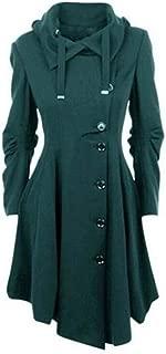 LUKEEXIN Women Trench Coat Winter Autumn Women's Overcoat Windbreaker Female Long Coat Zipper Button Goth Outwear