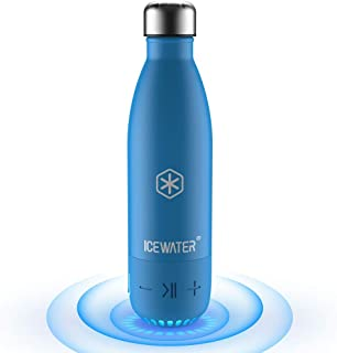 ICEWATER 3-in-1 Smart Stainless Steel Water Bottle(Glows to Remind You to Stay Hydrated)+Bluetooth Speaker, 17 OZ, Stay Hydrated and Enjoy Music