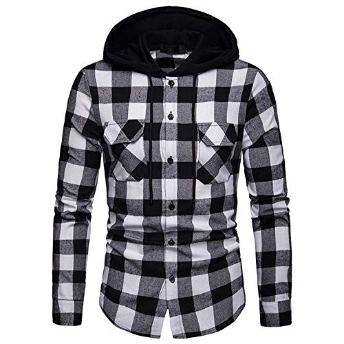 N\P Shirt Men Spring Shirt Hooded Jacket Long Sleeve Casual Men