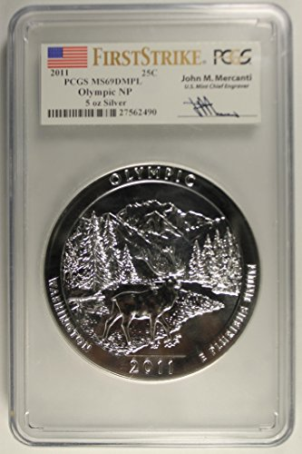 2011 P 5 Oz. Olympic National Park Quarter First Strike Mercanti Signature *POPULATION 2* Quarter MS69 PCGS