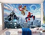 Personnalisé Grand Papier Peint Photo 3d Mural Avengers Chambre D'enfants Chambre Garçon Fond Superman Spiderman Wallcover