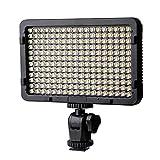 LTPAG Luz de Video LED, Luz de Panel de Cámara Regulable Ultra Brillante 176 LED Portátil para Canon, Nikon, Pentax, Panasonic, Sony, Samsung, Olympus y Todas Las Cámaras DSLR