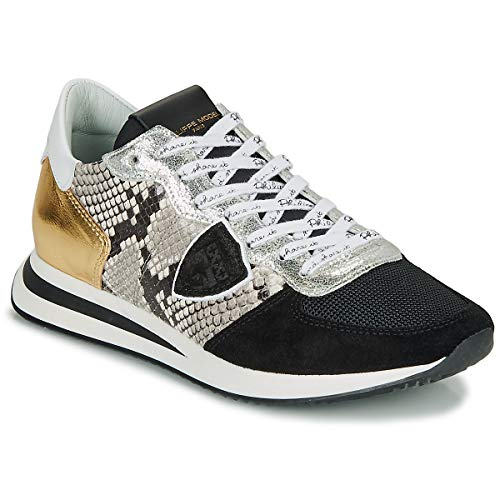 Philippe Model Tropez X Sneaker Damen Schwarz/Gold - 40 - Sneaker Low