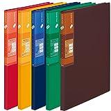 プラス ファイル スーパーエコノミー クリアファイル + A4 20ポケット ミックス 5冊入