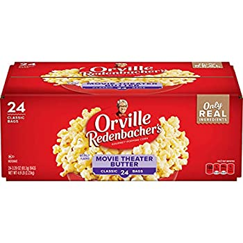 Orville Redenbacher s Movie Theater Butter Microwave Popcorn 3.29 Ounce Classic Bag 24-Count